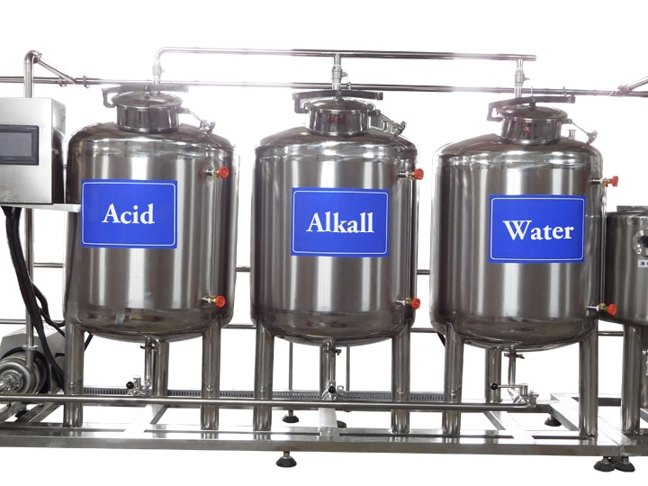 yogurt production line cleaning-system