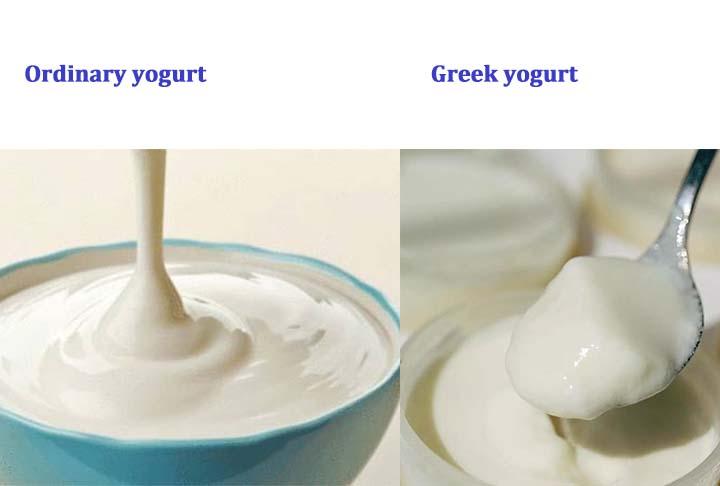 Greek yogurt VS ordinary yogurt