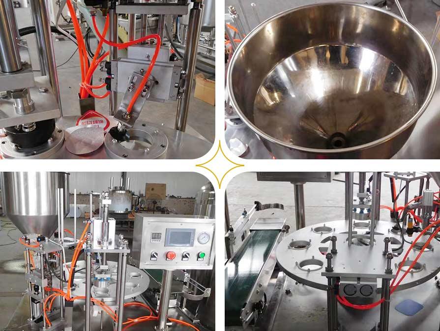 commercial yogurt filling packaging machine details