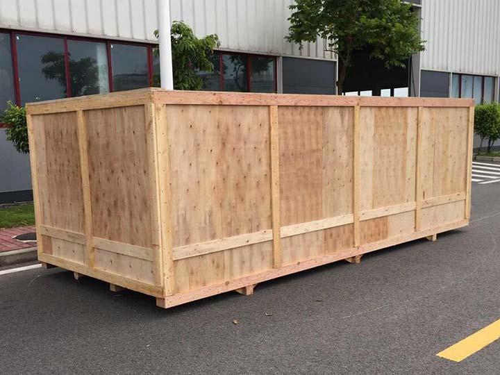 yogurt production line wooden package