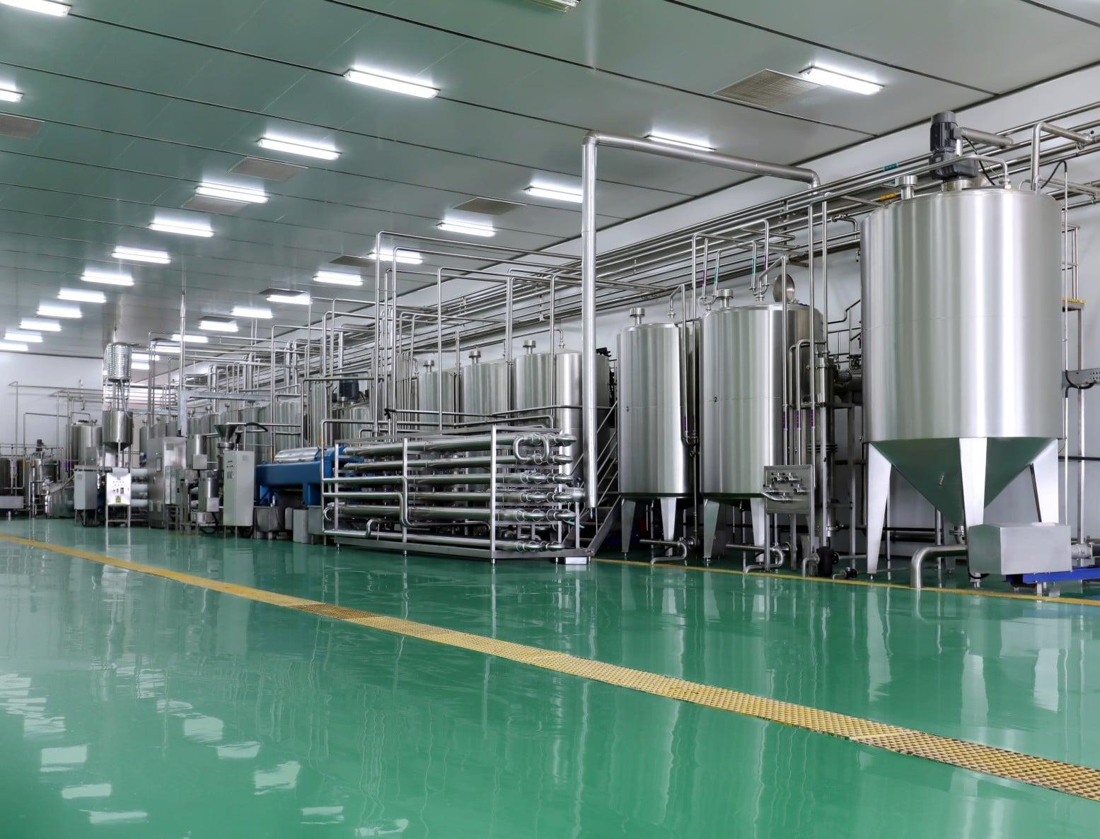 Yogurt production factory
